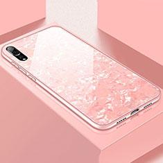 Silikon Schutzhülle Rahmen Tasche Hülle Spiegel T02 für Huawei P20 Pro Rosa