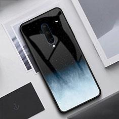 Silikon Schutzhülle Rahmen Tasche Hülle Spiegel T02 für OnePlus 7T Pro Schwarz