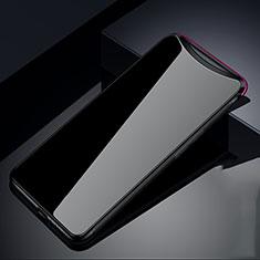 Silikon Schutzhülle Rahmen Tasche Hülle Spiegel T02 für Oppo Find X Schwarz