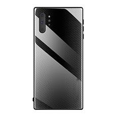 Silikon Schutzhülle Rahmen Tasche Hülle Spiegel T02 für Samsung Galaxy Note 10 Plus 5G Schwarz
