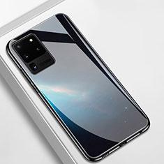 Silikon Schutzhülle Rahmen Tasche Hülle Spiegel T02 für Samsung Galaxy S20 Ultra 5G Schwarz