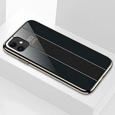 Silikon Schutzhülle Rahmen Tasche Hülle Spiegel T03 für Apple iPhone 11 Schwarz