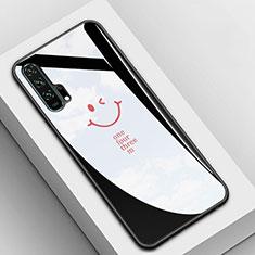 Silikon Schutzhülle Rahmen Tasche Hülle Spiegel T03 für Huawei Honor 20 Pro Schwarz