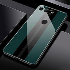Silikon Schutzhülle Rahmen Tasche Hülle Spiegel T03 für Huawei Honor V20 Grün