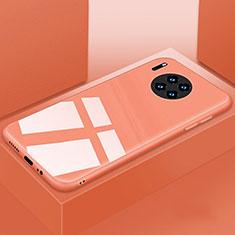 Silikon Schutzhülle Rahmen Tasche Hülle Spiegel T03 für Huawei Mate 30 5G Orange