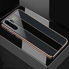 Silikon Schutzhülle Rahmen Tasche Hülle Spiegel T03 für Huawei P30 Pro Schwarz