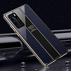 Silikon Schutzhülle Rahmen Tasche Hülle Spiegel T03 für Huawei P40 Blau