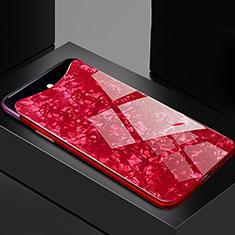 Silikon Schutzhülle Rahmen Tasche Hülle Spiegel T03 für Oppo Find X Rot