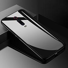 Silikon Schutzhülle Rahmen Tasche Hülle Spiegel T03 für Xiaomi Mi 9T Pro Schwarz