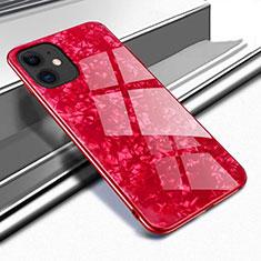 Silikon Schutzhülle Rahmen Tasche Hülle Spiegel T04 für Apple iPhone 11 Rot