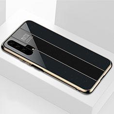 Silikon Schutzhülle Rahmen Tasche Hülle Spiegel T04 für Huawei Honor 20 Pro Schwarz