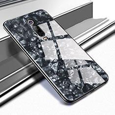 Silikon Schutzhülle Rahmen Tasche Hülle Spiegel T04 für Xiaomi Mi 9T Pro Schwarz