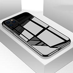 Silikon Schutzhülle Rahmen Tasche Hülle Spiegel T05 für Apple iPhone 11 Pro Schwarz