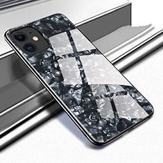 Silikon Schutzhülle Rahmen Tasche Hülle Spiegel T05 für Apple iPhone 11 Schwarz