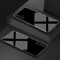 Silikon Schutzhülle Rahmen Tasche Hülle Spiegel T05 für Huawei Nova 5T Schwarz