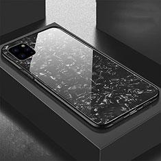 Silikon Schutzhülle Rahmen Tasche Hülle Spiegel T06 für Apple iPhone 11 Pro Max Schwarz