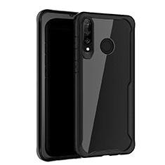 Silikon Schutzhülle Rahmen Tasche Hülle Spiegel Z01 für Huawei Nova 4e Schwarz