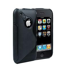 Silikon Schutzhülle S-Line Hülle Durchsichtig Transparent für Apple iPhone 3G 3GS Schwarz