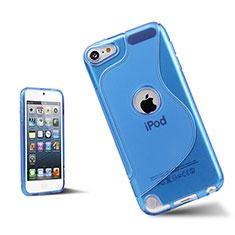 Silikon Schutzhülle S-Line Hülle Durchsichtig Transparent für Apple iPod Touch 5 Blau