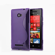 Silikon Schutzhülle S-Line Hülle Durchsichtig Transparent für HTC 8X Windows Phone Violett
