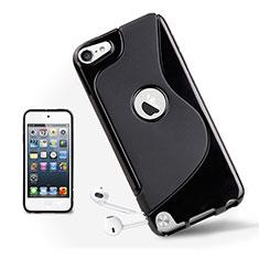 Silikon Schutzhülle S-Line Tasche Durchsichtig Transparent für Apple iPod Touch 5 Schwarz