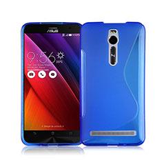 Silikon Schutzhülle S-Line Tasche Durchsichtig Transparent für Asus Zenfone 2 ZE551ML ZE550ML Blau