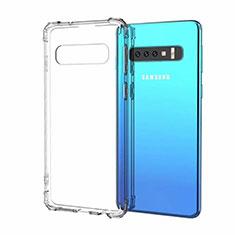Silikon Schutzhülle Ultra Dünn Flexible Tasche Durchsichtig Transparent A05 für Samsung Galaxy S10 Klar