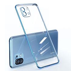 Silikon Schutzhülle Ultra Dünn Flexible Tasche Durchsichtig Transparent für Xiaomi Mi 11 5G Blau
