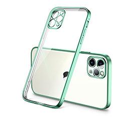 Silikon Schutzhülle Ultra Dünn Flexible Tasche Durchsichtig Transparent H01 für Apple iPhone 12 Pro Max Grün