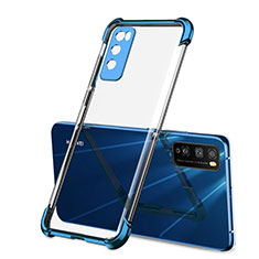 Silikon Schutzhülle Ultra Dünn Flexible Tasche Durchsichtig Transparent H01 für Huawei Enjoy 20 Pro 5G Blau