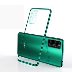 Silikon Schutzhülle Ultra Dünn Flexible Tasche Durchsichtig Transparent H01 für Huawei Honor 30 Grün