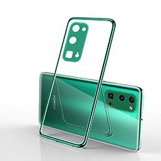 Silikon Schutzhülle Ultra Dünn Flexible Tasche Durchsichtig Transparent H01 für Huawei Honor 30 Pro Grün