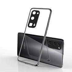 Silikon Schutzhülle Ultra Dünn Flexible Tasche Durchsichtig Transparent H01 für Huawei Honor 30 Pro Schwarz