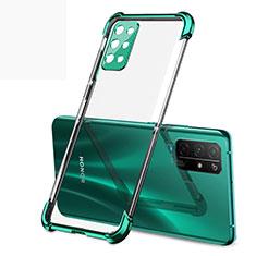 Silikon Schutzhülle Ultra Dünn Flexible Tasche Durchsichtig Transparent H01 für Huawei Honor 30S Grün