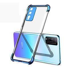 Silikon Schutzhülle Ultra Dünn Flexible Tasche Durchsichtig Transparent H01 für Huawei Honor Play4T Pro Blau