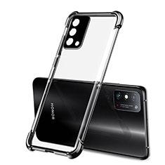 Silikon Schutzhülle Ultra Dünn Flexible Tasche Durchsichtig Transparent H01 für Huawei Honor X10 Max 5G Schwarz