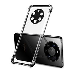 Silikon Schutzhülle Ultra Dünn Flexible Tasche Durchsichtig Transparent H01 für Huawei Mate 40 Pro+ Plus Schwarz