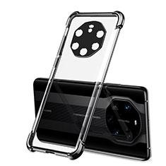 Silikon Schutzhülle Ultra Dünn Flexible Tasche Durchsichtig Transparent H01 für Huawei Mate 40 RS Schwarz