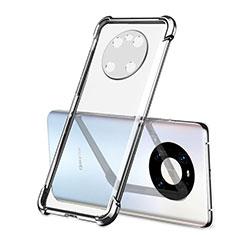 Silikon Schutzhülle Ultra Dünn Flexible Tasche Durchsichtig Transparent H01 für Huawei Mate 40 Silber