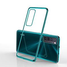 Silikon Schutzhülle Ultra Dünn Flexible Tasche Durchsichtig Transparent H01 für Huawei Nova 7 5G Grün