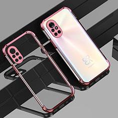 Silikon Schutzhülle Ultra Dünn Flexible Tasche Durchsichtig Transparent H01 für Huawei Nova 8 5G Rosegold