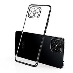 Silikon Schutzhülle Ultra Dünn Flexible Tasche Durchsichtig Transparent H01 für Huawei Nova 8 SE 5G Schwarz