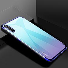 Silikon Schutzhülle Ultra Dünn Flexible Tasche Durchsichtig Transparent H01 für Huawei Y8p Blau