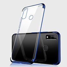 Silikon Schutzhülle Ultra Dünn Flexible Tasche Durchsichtig Transparent H01 für Huawei Y8s Blau