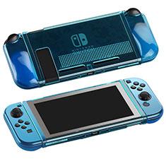 Silikon Schutzhülle Ultra Dünn Flexible Tasche Durchsichtig Transparent H01 für Nintendo Switch Blau