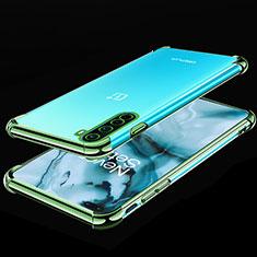 Silikon Schutzhülle Ultra Dünn Flexible Tasche Durchsichtig Transparent H01 für OnePlus Nord Grün