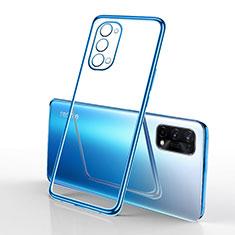 Silikon Schutzhülle Ultra Dünn Flexible Tasche Durchsichtig Transparent H01 für Oppo K7x 5G Blau