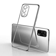 Silikon Schutzhülle Ultra Dünn Flexible Tasche Durchsichtig Transparent H01 für Oppo K7x 5G Schwarz