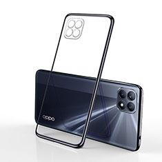 Silikon Schutzhülle Ultra Dünn Flexible Tasche Durchsichtig Transparent H01 für Oppo Reno4 SE 5G Schwarz