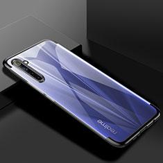Silikon Schutzhülle Ultra Dünn Flexible Tasche Durchsichtig Transparent H01 für Realme 6 Pro Schwarz